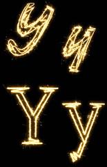 Sparkler Alphabet