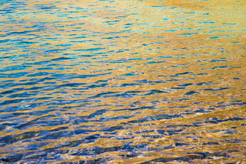 surface of the water in the lake