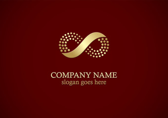 gold infinity business logo