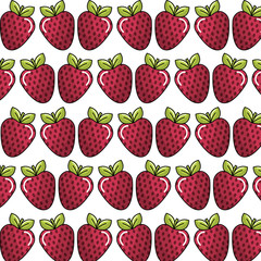 strawberry background icon stock