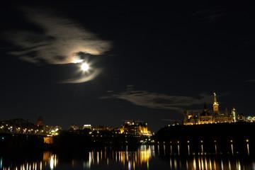 Parliament Hill Ottawa at Night