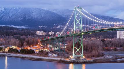 lions' gate bridge,Vancouver BC Canada