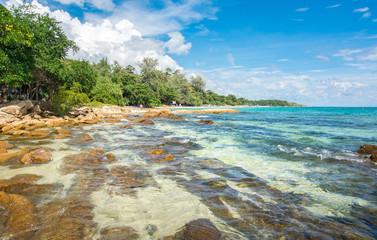 Rocky beach of koh Samet island in Thailand