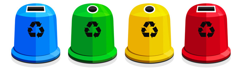 Fototapeta Segregacja śmieci / recykling obraz