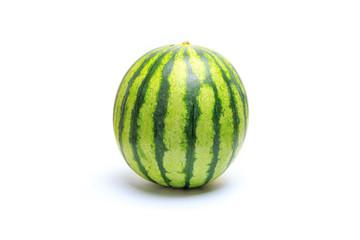 Small green striped watermelon