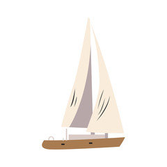 Isolated ship icon on a white background, Vector illustration