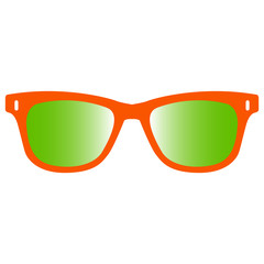 Isolated sunglasses icon on a white background, Vector illustration