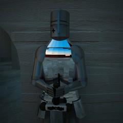 Armor in close up near a door, close up
