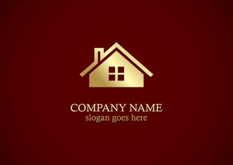 gold home icon company logo