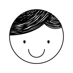 cute little boy drawing character vector illustration design