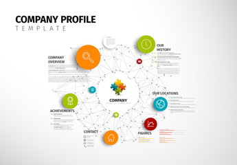 Circular Company Profile Infographic