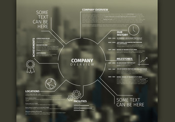 Company Profile Infographic with Cityscape 2