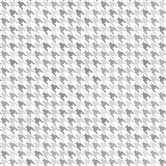 Houndstooth pattern. Gray and white seamless vector background
