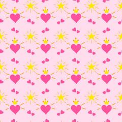 Little princess pattern vector.