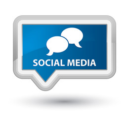 Social media (chat bubble icon) prime blue banner button