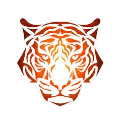 stylized tiger muzzle