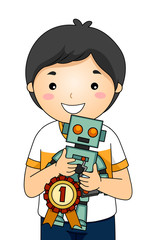 Kid Boy Science Fair Robot 1st Place