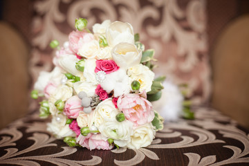 Wedding bouquet from pretty roses
