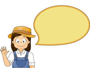 Kid Girl Speech Bubble Gardener