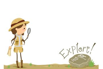 Stickman Kid Girl Explore