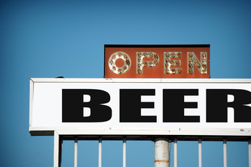 old neon beer sign
