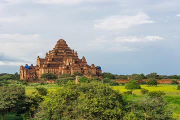 Dhammayangyi pagoda reconstruction after big earthquake, Bagan ancient city, Mandalay, Myanmar