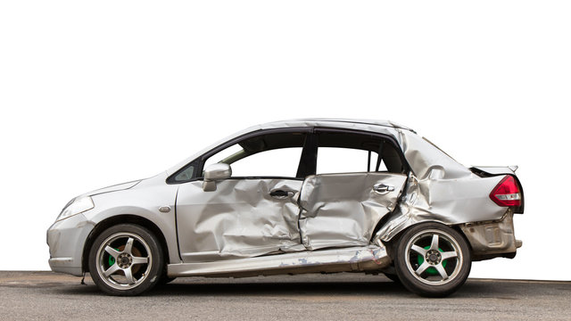 Isolate side car crashed.