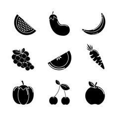 contour vegetable background icon