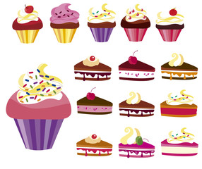 clip images cupcakes and cakes