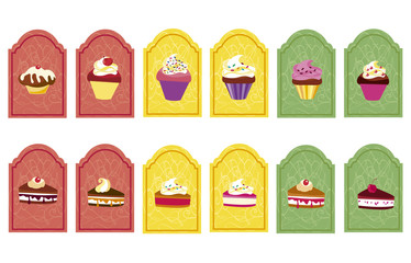 tags with cupcakes