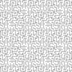 Seamless geometric pattern. Abstract maze background.