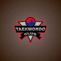 taekwondo logo vector illustration