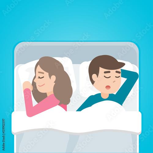 Sleeping cartoon couple images