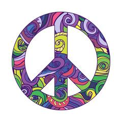 symbol of peace , vector icon. pacific.
