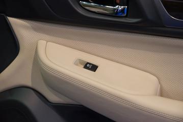Car door interior passenger arm rest with  control panel