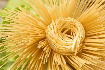 Background of pasta closeup.
