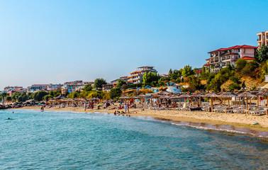 Seashore of resort city Saint Vlas (Sveti Vlas), Bulgaria