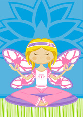 Cute Butterfly Yoga Girl