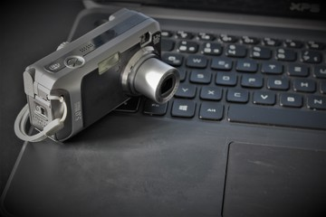 An Image of a Computer and a camera