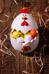 Uovo di ceramica di Pasqua