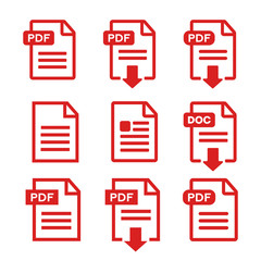 PDF file, web icon. design set