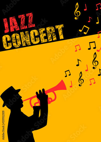 Jazz music concert poster and flyer template