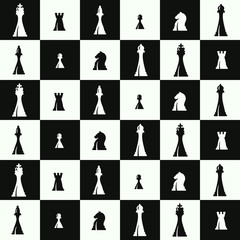 seamless pattern with chess pieces for your design