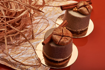 Small brown desserts.