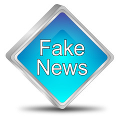 Fake News button - 3D illustration