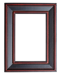 Blank picture frame isolated on white background.