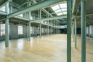 Interior of new factory hall
