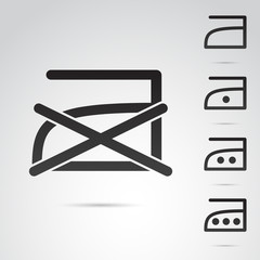 Laundy, iron vector icon.