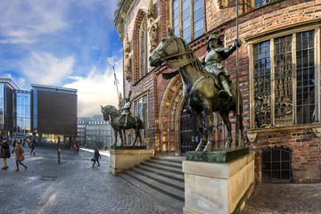 Die Herolde vor dem Bremer Rathaus, Marktplatz