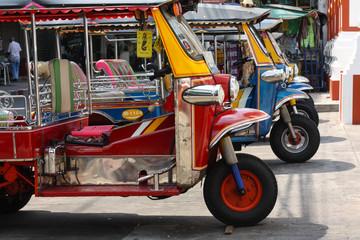 Tuk-tuk tourist taxi in Thailand